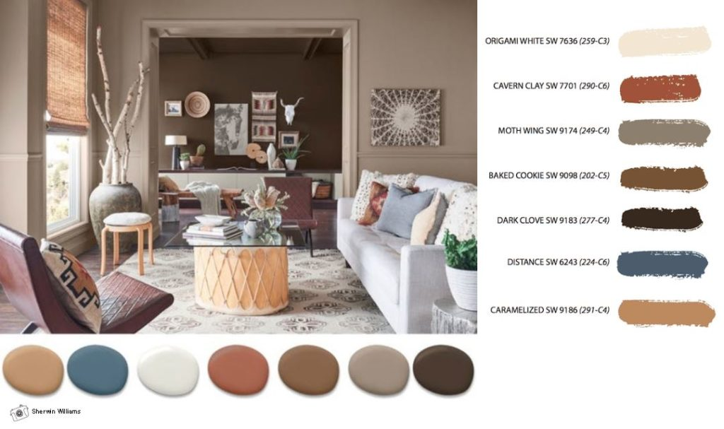sherwin williams color of the year cavern clay paragon design firm. Black Bedroom Furniture Sets. Home Design Ideas